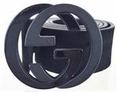GUCCI SUEDE BELT W/ INTERLOCKING G SZ 40 223891